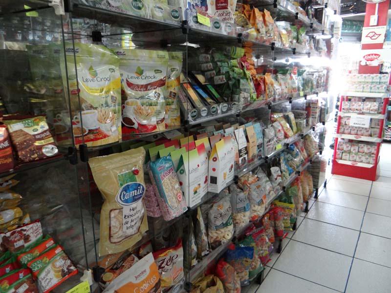 Loja de produtos - Spaço e Natureza - prateleira snacks