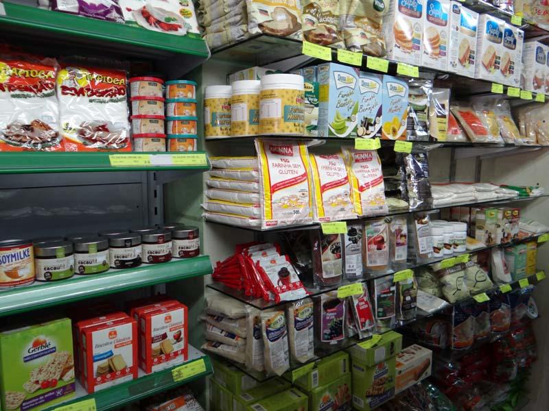 Loja de produtos - Spaço e Natureza - prateleira farinha/mix