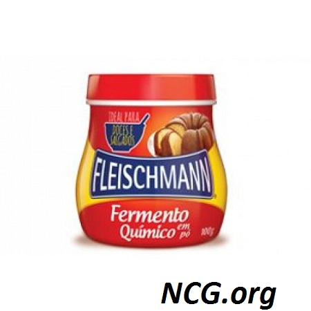 Fermento sem gluten 100g - Fleishmann : fermento químico sem gluten - Não contém gluten