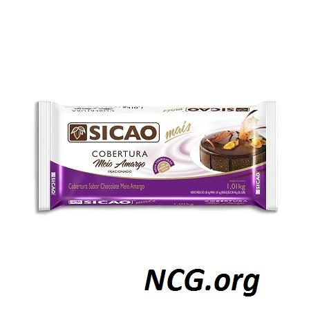 Barra de chocolate sem gluten - Chocolates Sicao : chocolate sem gluten - não contém gluten