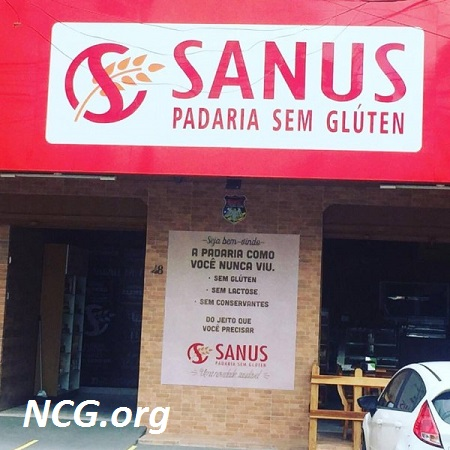 Fachada da padaria Sanus sem gluten - Padaria sem gluten e sem lactose em Goiânia (GO) Sanus - NaoContemGluten.ORG