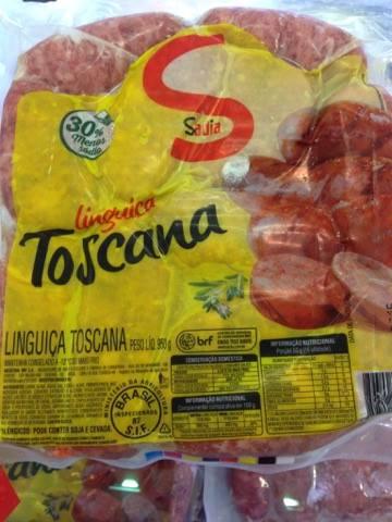 Embalagem Linguiça Toscana Sadia CONTÉM GLÚTEN