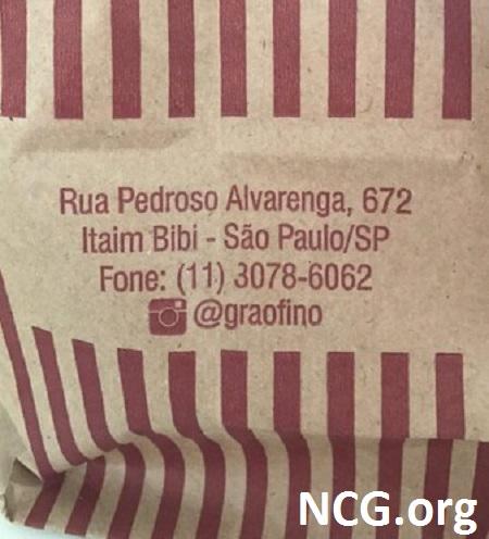 Endereço sem gluten  - Padaria sem gluten em São Paulo (SP) Grão Fino - NaoContemGluten.ORG