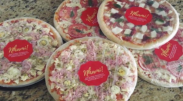 Nhami pizza pizza sem glúten congelada