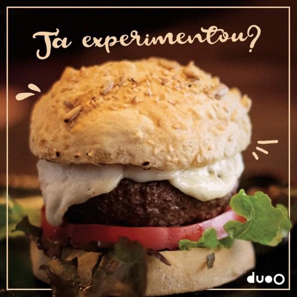 duoO Hambúrguer sem gúten e sem lactose