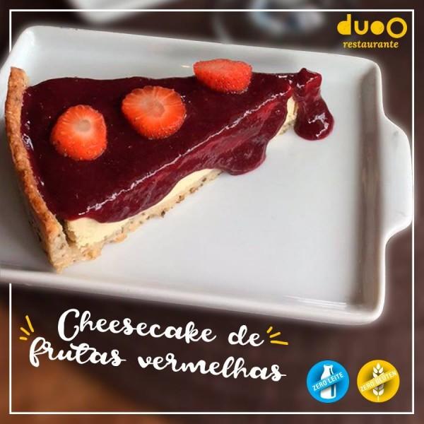 duoO Cheesecake de frutas vermelhas sem glúten e sem lactose