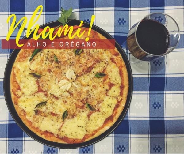 Nhami Pizza pizza de alho e orégano sem glúten
