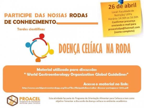 Rodas de conhecimento PROACEL Programa de Orientação para Celíacos