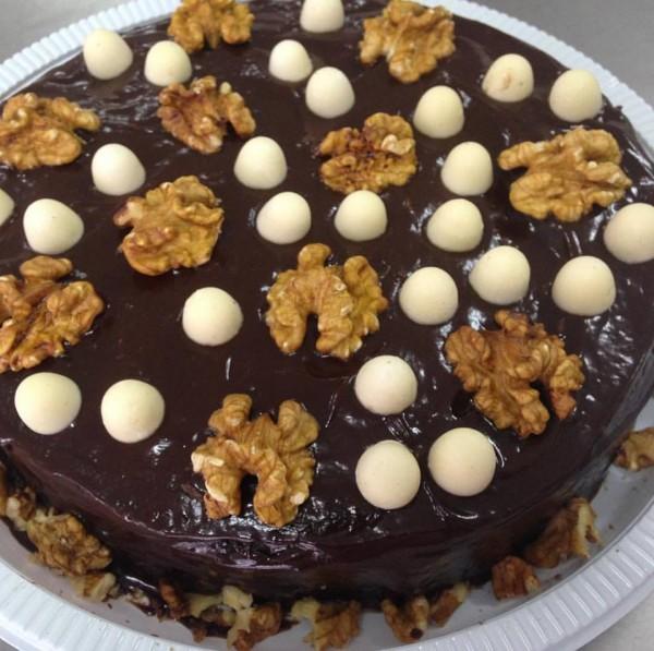 Cucina Sem Glúten Bolo de chocolate com nozes