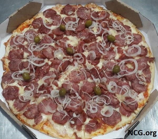 Pizza calabresa sem gluten e sem lactose - Pizzaria sem gluten e lactose em Paraná (PR) Pizzaria Artesanal - Não Contém Gluten