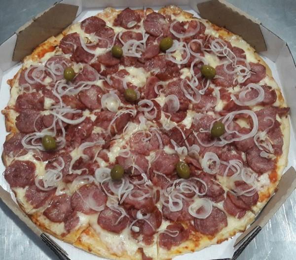 Pizza Artesanal calabreza Pizza sem glúten e lactose