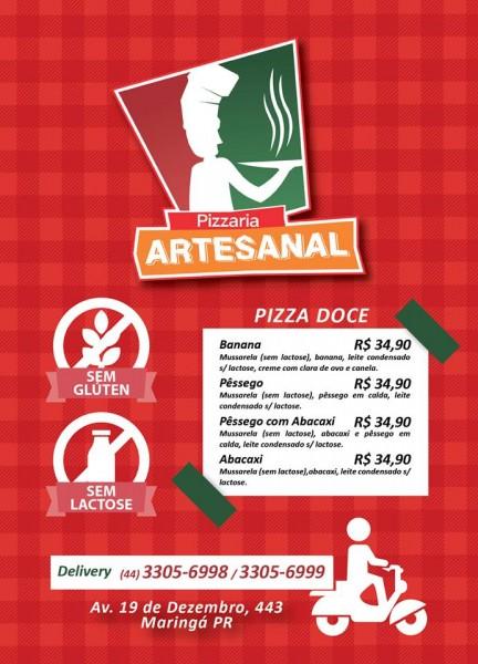 Pizza Artesanal Cardápio sem glúten