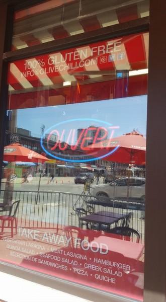 Restaurante sem glúten Olive & Chili em Ottawa / Canadá