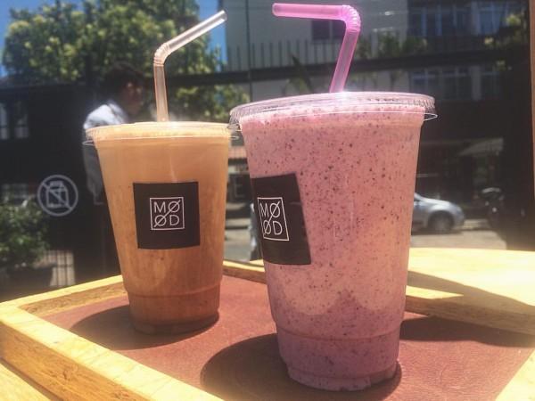 MOOD Cafeteria Gluten&Lac Free Frappuccino de leite de castanhas e Shake Funcional sem glúten