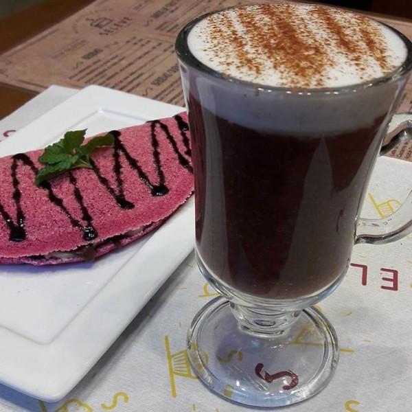 Seleve Momentos Saudáveis Tapioca Ilhéus ( banana, chocolate e calda de café) sem glúten