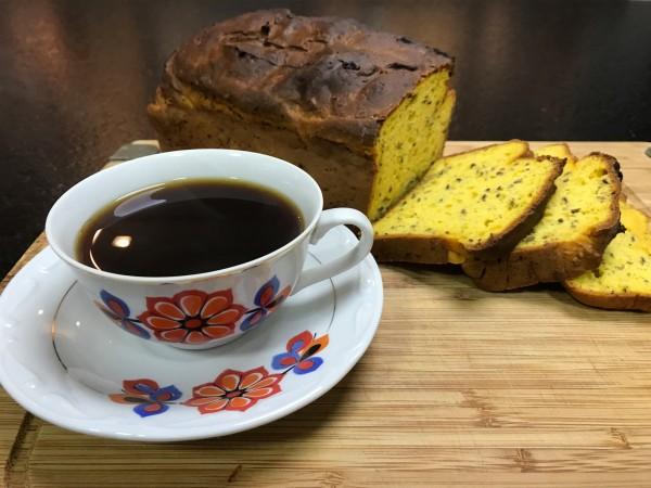 Casa do Pão Sem Glúten Pão de abóbora e linhaça com café sem glúten
