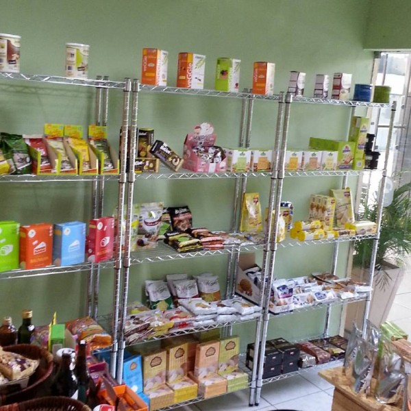 Empório Sem Glúten, loja de produtos sem glúten Prateleira de produtos sem glúten