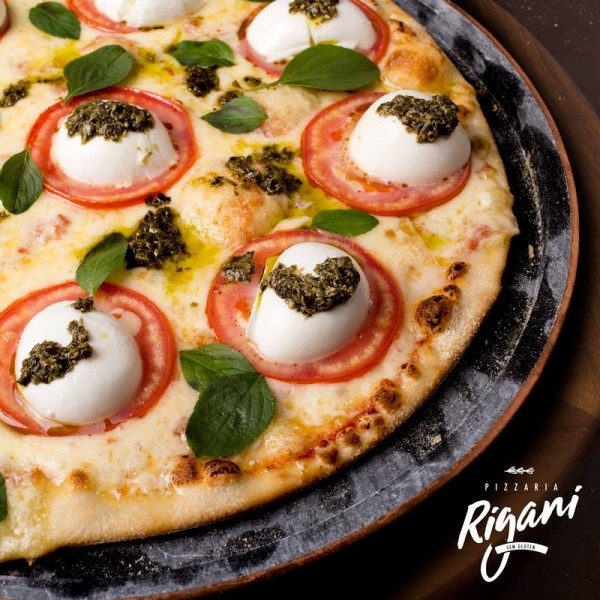 Pizzaria Rigani - Sem Glúten, pizzaria sem glúten em Curitiba Pizza marguerita sem glúten