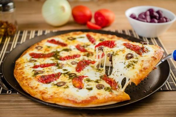 Ballon Rouge Pizzaria, pizzaria sem glúten Pizza Caprese sem glúten