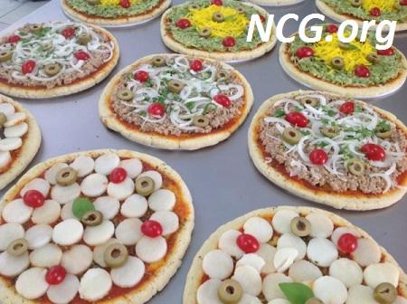 Pizzas de atum, abobrinha com queijo Vegano e de palmito sem gluten e sem lactose - Padaria sem gluten e lactose em São Paulo : DELLA SANTA - Não Contém Gluten