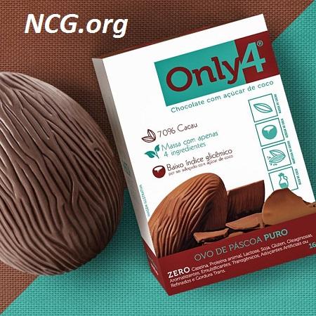 Ovo de páscoa 70% cacau sem gluten da Only4 - Lista de ovo de páscoa sem gluten - NaoContemGluten.ORG