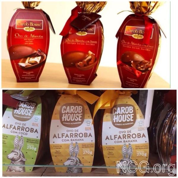 NCG - Carob House: Ovo de Alfarroba 210g sem glúten. Não contém glúten