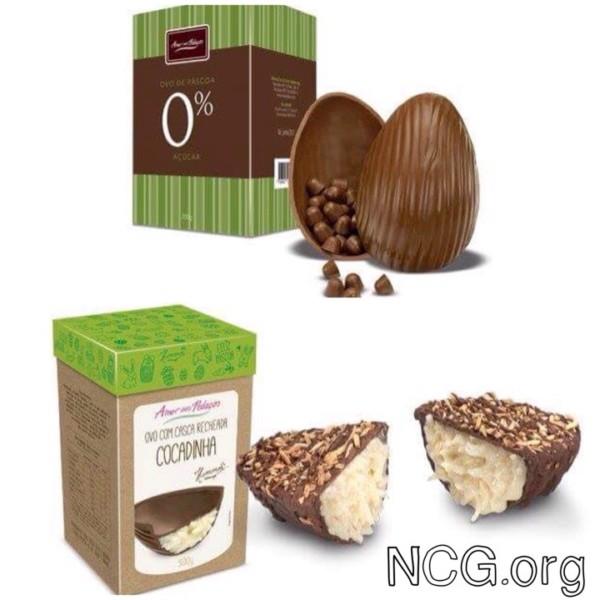NCG - Amor aos Pedaços: Ovo de Páscoa Sem glúten. Não contém glúten