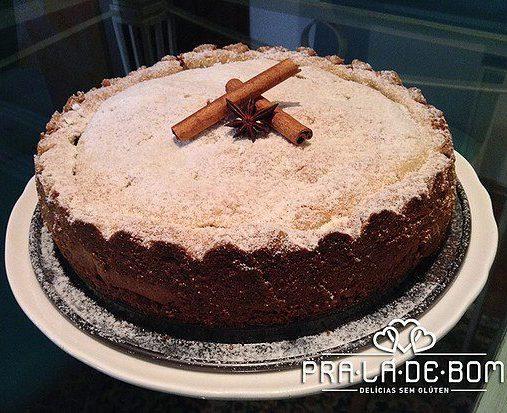 NCG.org - PRA LÁ De BOM: Torta de maçã sem glúten e lactose. Não contém glúten