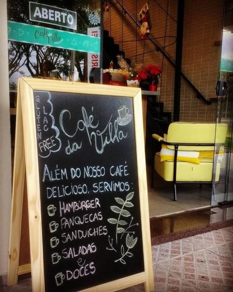 NCG.org - Café da Villa: lousa. Não contém glúten