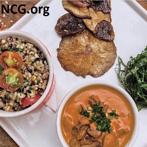 Estrogonofe vegano com cogumelos de paris sem glúten - Restaurante sem glúten em Higienópolis (SP) - Nambu - Não Contém Glúten