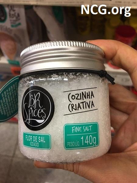 Flor de sal sem glúten – tempero sem glúten e sem contaminação cruzada: BR Spices – Não Contém Glúten
