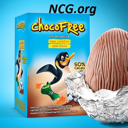 Ovo de páscoa 50% cacau sem gluten e sem soja da ChocoFree - Lista de ovo de páscoa sem gluten - NaoContemGluten.ORG