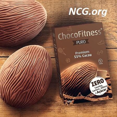 Ovo de páscoa puro 55% cacau sem gluten e sem açúcar da ChocoFitness - Lista de ovo de páscoa sem gluten - NaoContemGluten.ORG