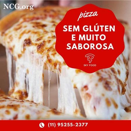 Pizza de 4 queijos sem gluten - Pizzaria sem gluten em São Paulo (SP) Sky Food Pizza - Não Contém Gluten