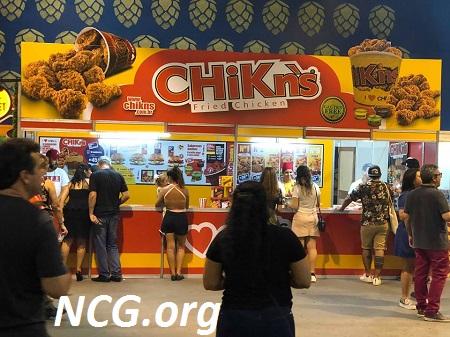 Fachada da loja CHiKn's Fried Chicken sem gluten e sem latose - Festival Brasileiro da Cerveja sem gluten / lactose em Blumenau (SC) - Não Contém Gluten