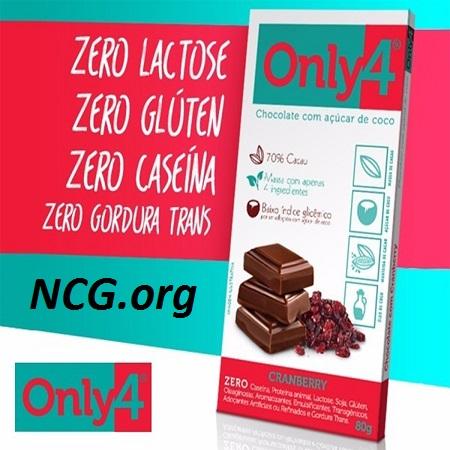 Tablete only4 sabor cranberry sem gluten - Chocolate Only4 tem gluten ?? Veja explicação do SAC - Não Contém Gluten