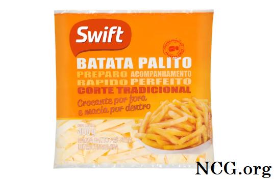 Batata frita Swift sem gluten - Batata frita da Swift tem gluten? Veja resposta do SAC - Não ContémGluten
