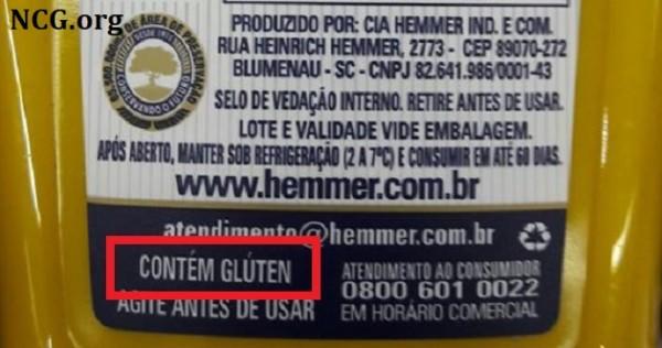 Ketchup e mostarda da Hemmer Alimentos contém gluten ?