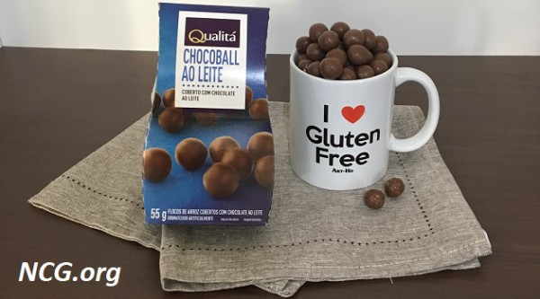 Chocoball ao leite sem gluten da Qualitá - NaoContemGluten.ORG