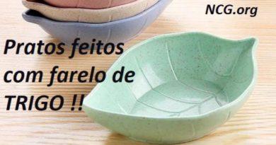 Farelo de trigo é usado para produzir pratos e talheres comestíveis