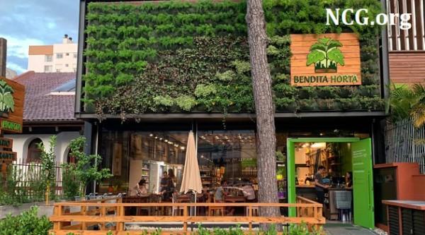 Bendita Horta fachada da loja sem gluten