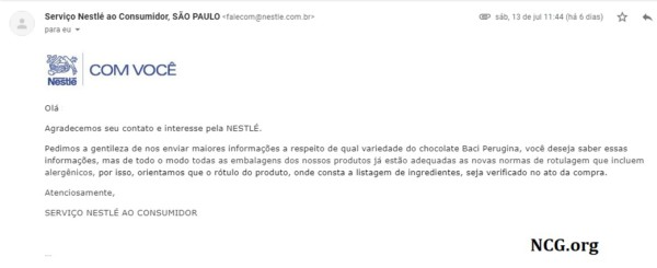 Chocolate Baci Perugina contém gluten ? Confira a resposta do SAC !