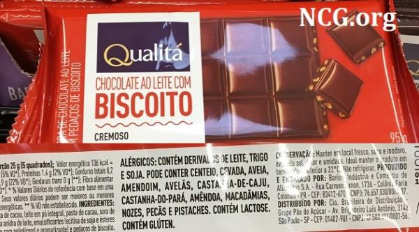 Chocolate Qualita CONTÉM GLUTEN