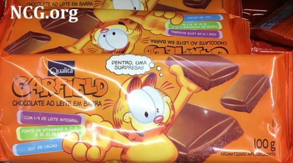 Chocolate Garfield Qualita contém gluten ??
