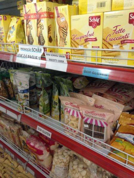 Loja de Produtos sem glúten em São Paulo (SP/ZO) - Ohashi - Prateleira sem glúten. NCG.org