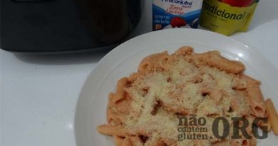 Como fazer macarrão cremoso na panela de arroz sem gluten !