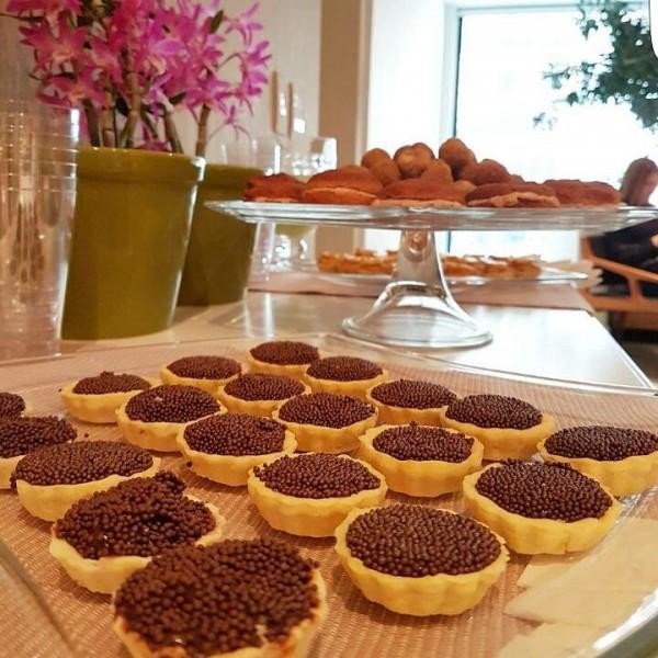 Senza Glutine Mini tortinhas de brigadeiro sem glúten