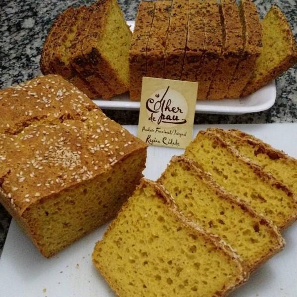 Pão de abóbora sem glúten e com FOS e fermentação natural - Colher de Pau