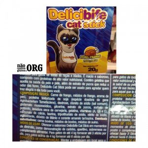 Snacks sem glúten Delicibife cat stick