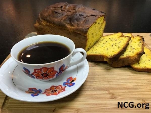 Pão de abóbora e linhaça com café sem gluten - Delivery sem gluten em Porto Alegre (RS) Casa do Pão Sem Gluten - Não Contém Gluten
